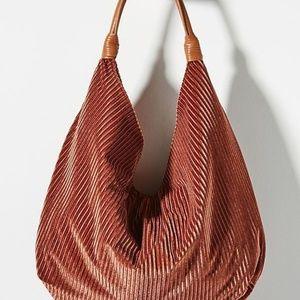 Anthropologie Corded Velvet Slouchy Tote Bag